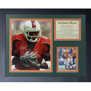 Santana Moss - Miami Hurricanes Framed Memorabilia By Legends Never Die