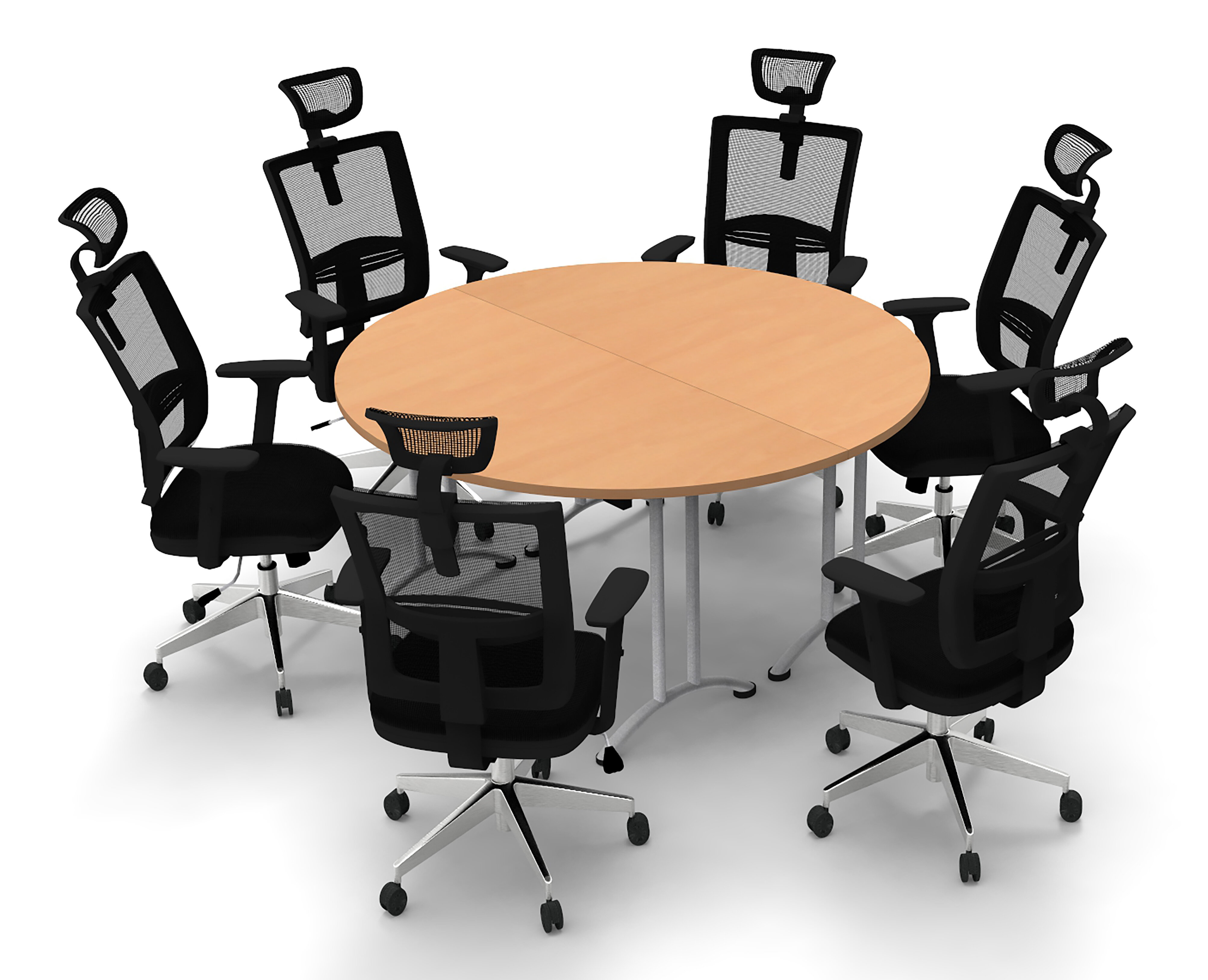 Symple Stuff Hagar Circular Conference Table and Chair Set | Wayfair