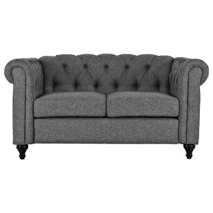Kym Living Room Chesterfield Loveseat by Ophelia & Co.