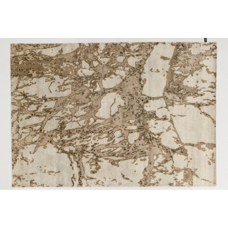 Solo Rugs Grit And Ground Abstract Hand Knotted Beige Rug Wayfair