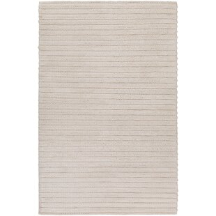 Reviews Vallejo Hand-Woven White Area Rug By Langley Street