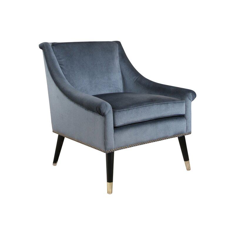 mercer41 woodford velvet swoop arm chair & reviews | wayfair