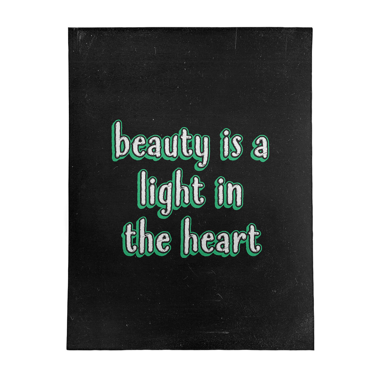 East Urban Home Beauty Inspirational Quote Chalkboard Style Poly Chenille Rug Wayfair
