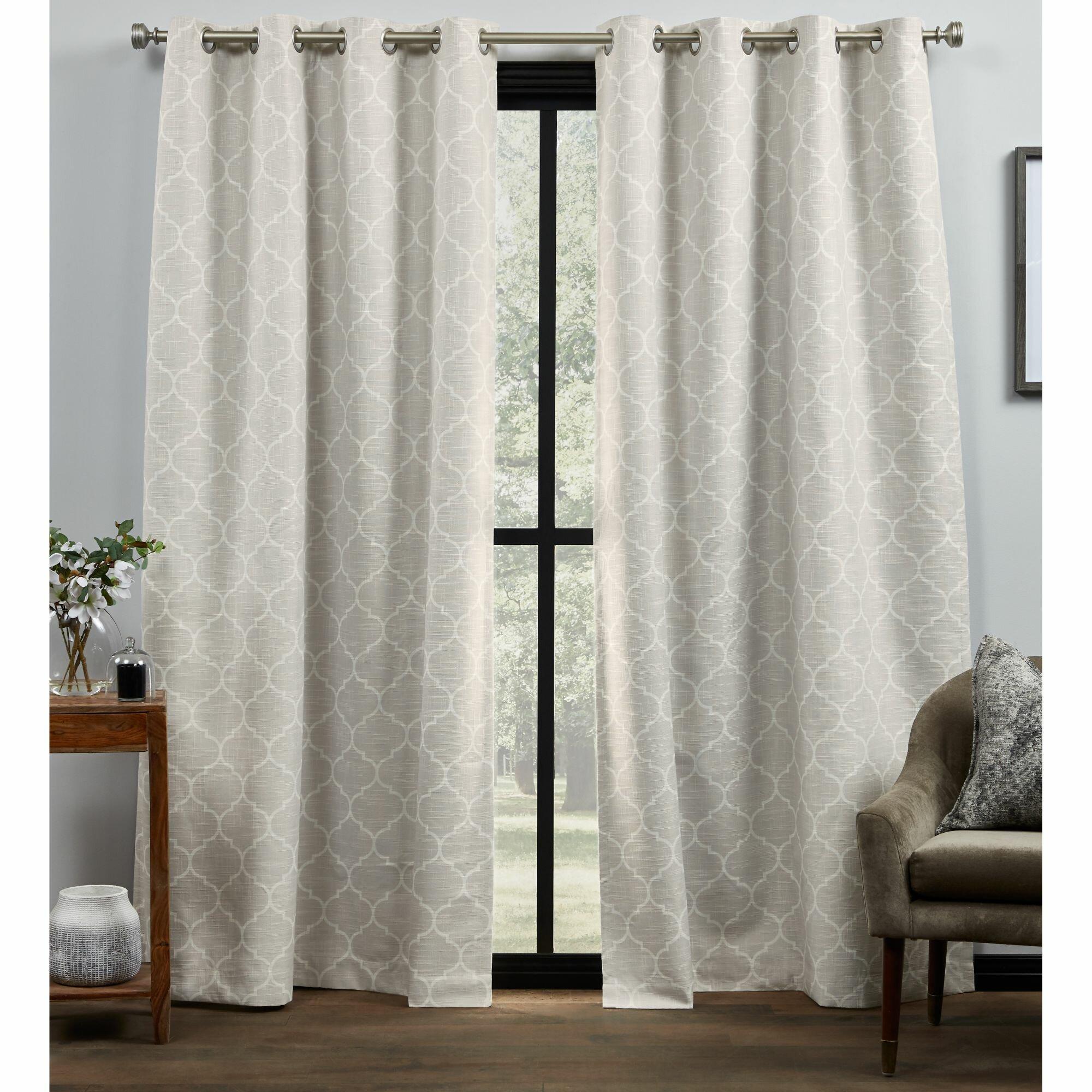 Red Barrel Studio Palni Trellis Blackout Thermal Grommet Curtain Panels Reviews Wayfair