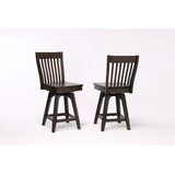 Yvonne Slat Back Swivel Bar Stool (Set of 2) by Gracie Oaks