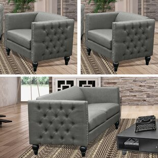 Reviews Marrs Modern 3 Piece Living Room Set by House of Hampton Reviews (2019) & Buyer's Guide