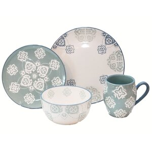 Painterly 16 Piece Dinnerware Set, Service for 4