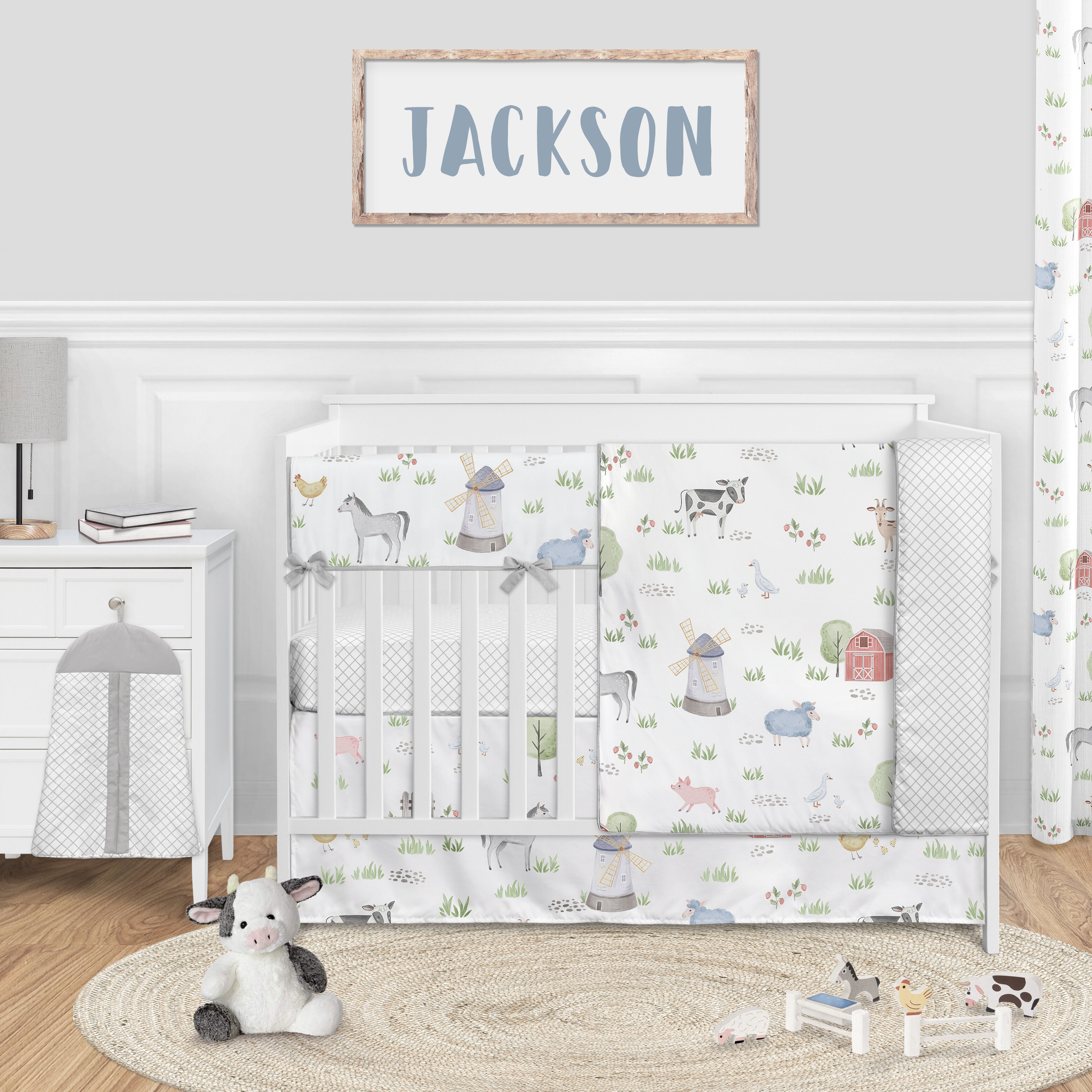 Sweet Jojo Designs Farm Animals 5 Piece Crib Bedding Set Wayfair