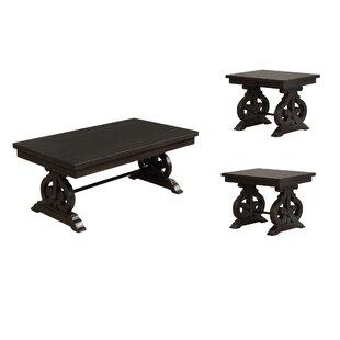 One Allium Way Alcala 3 Piece Coffee Table Set