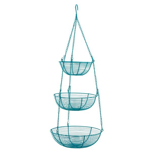 Rebrilliant 3-Tier Hanging Wire Basket   Wayfair
