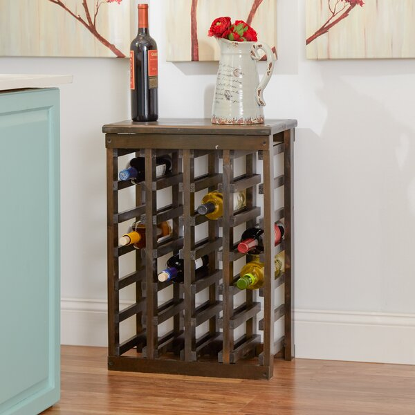 Alcott Hill Garris 24 Bottle Floor Wine Bottle Rack U0026 Reviews   Wayfair