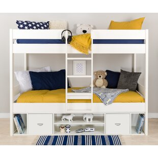 European Single Bunk Bed With Drawers And Shelves By Stompa