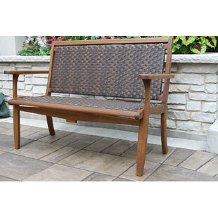 Nathen Lounger Wooden Garden Bench