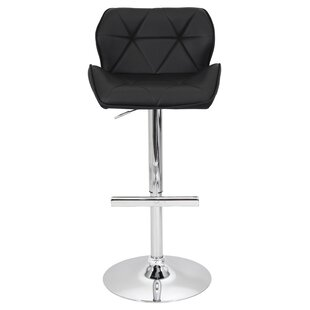 Aceves Adjustable Height Swivel Bar Stool Orren Ellis