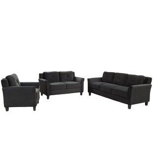 Belvoir 3 Piece Standard Living Room Set by Latitude Run