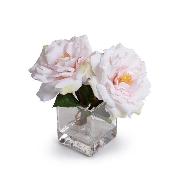 Faux Roses In Vase Wayfair