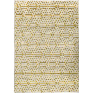 Ginsberg Light Gray/Gold Area Rug