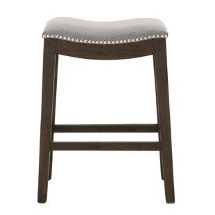 Edgewood Elevated Upholstered Bar Stool by Ophelia & Co.