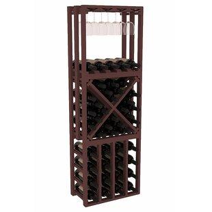 Karnes Pine Lattice Stacking Cube 45 Bottle Floor Wine Rack