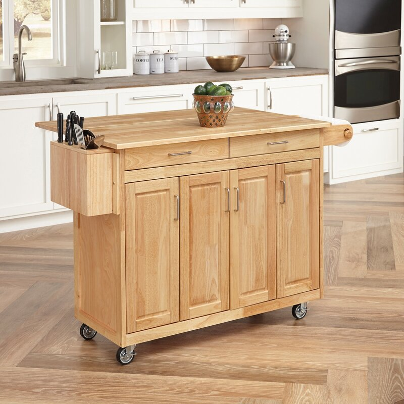 Kitchen Island Custom August Grove Epping Kitchen Island With Wood Top & Reviews  Wayfair Review