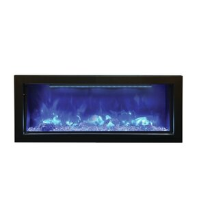Atoll Wall Mounted Electric Fireplace by Orren Ellis