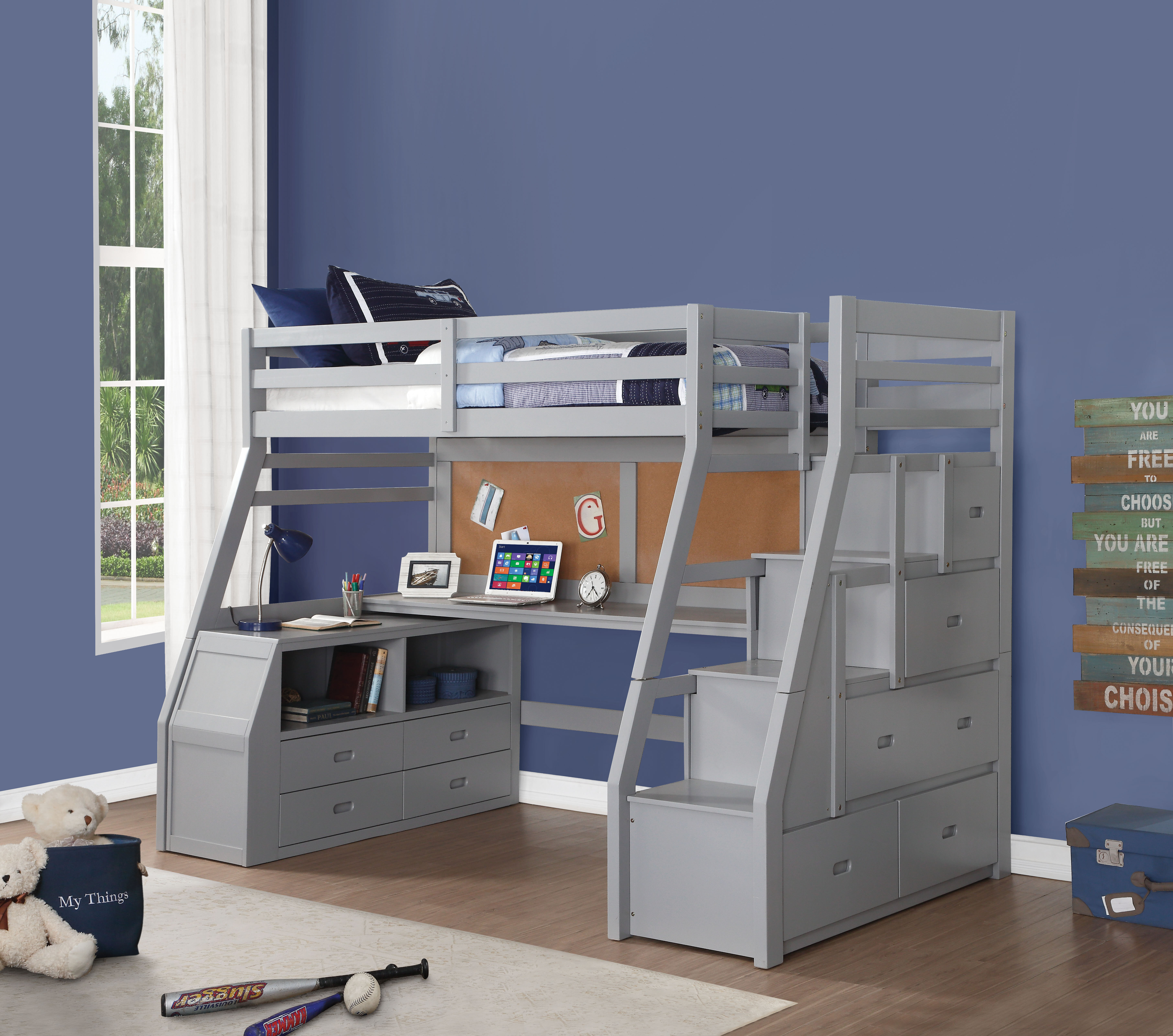 Zoomie Kids Jeramiah Twin Loft Bed With