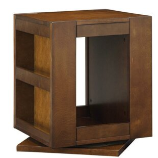 Burchett Swivel End Table by Winston Porter