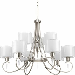 Red Barrel Studio Ernestina 9-Light Shaded Chandelier