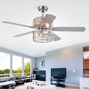 52 Giono 5 Blade Ceiling Fan with Remote By House of Hampton