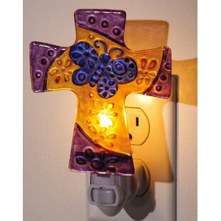 Evergreen Enterprises, Inc Floral Cross Night Light