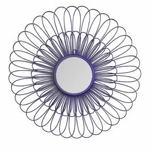 Ebern Designs Ball Daisy Accent Mirror