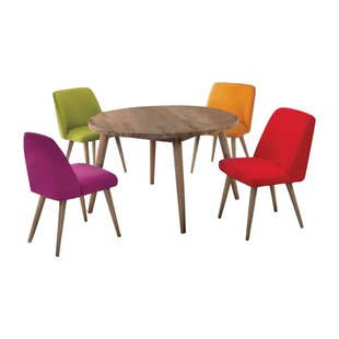 Lepley Wooden Upholstered Dining Chair (Set of 4) by Brayden Studio