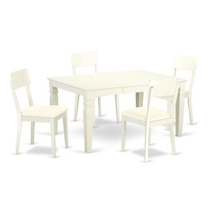 Belcourt 5 Piece Solid Wood Dining Set by..