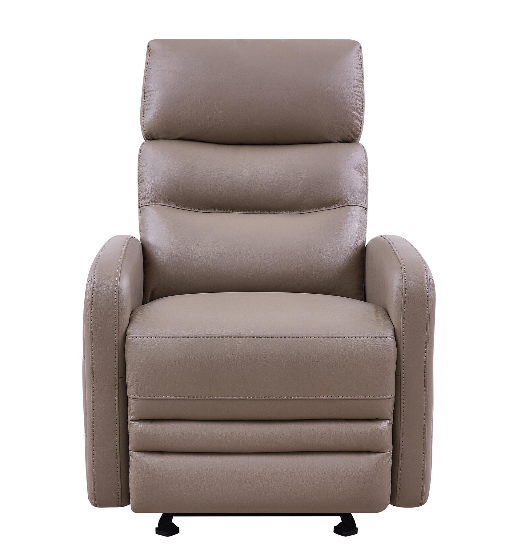 Sensational Goodlow Contemporary Leather Power Recliner Machost Co Dining Chair Design Ideas Machostcouk