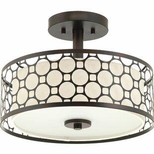 Komal 1-Light Metal Semi-Flush Mount by Latitude Run