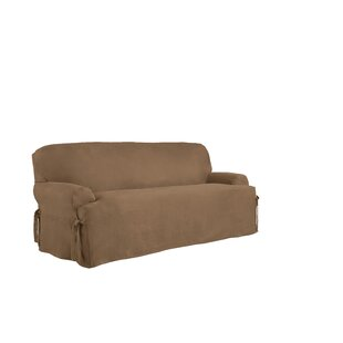 Affordable T-Cushion Sofa Slipcover by Serta Reviews (2019) & Buyer's Guide