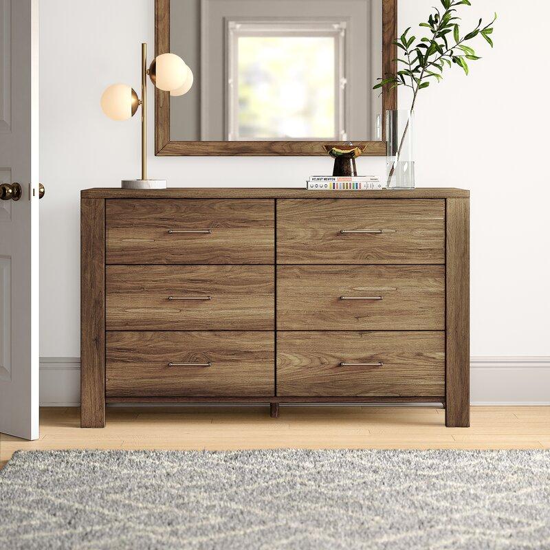 Mercury Row Van Maanen 6 Drawer Double Dresser Reviews Wayfair