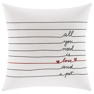 Alta Love and A Pet Cotton Throw Pillow