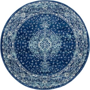 Pat Navy Blue Area Rug by Charlton Home