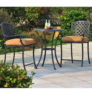 Largemont 3 Piece Bistro Set with Cushion..
