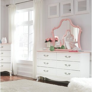 Read Reviews Stamp 6 Drawer Double Dresser with Mirror by Harriet Bee Reviews (2019) & Buyer's Guide