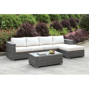 Peters 4 Piece Deep Seating Group With Cushions by Brayden Studio 2019 Online