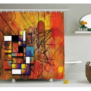 Florance Geometric Figures Image Single Shower Curtain
