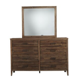 Northwich 8 Drawer Double Dresser with Mirror