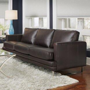 Orren Ellis Lopes Leather Sofa