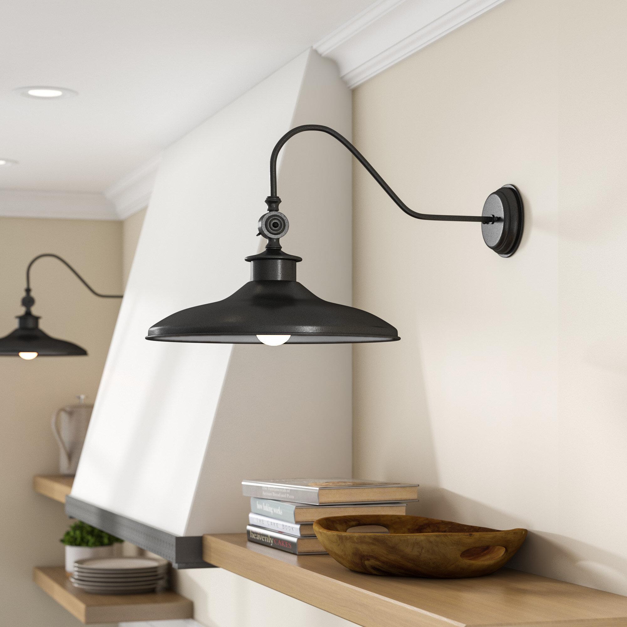 laurel foundry modern farmhouse spartansburg 1 light barn light