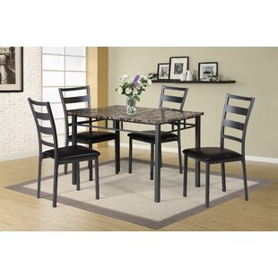 Mcchristian 5 Piece Upholstered Dining Chair Set (Set of 4) Charlton Home
