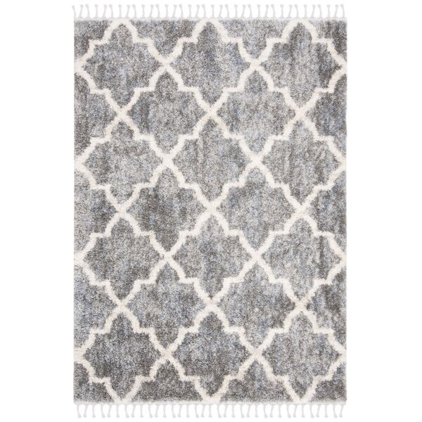 Union Rustic Triplett Geometric Gray Cream Area Rug Wayfair