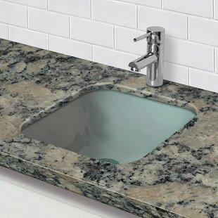 Save. DECOLAV. Translucence Glass Square Undermount Bathroom Sink