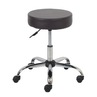 Banker Height Adjustable Stool with Caster Wheels